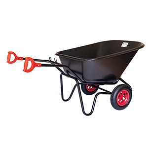 Titan Black Plastic Wheelbarrow
