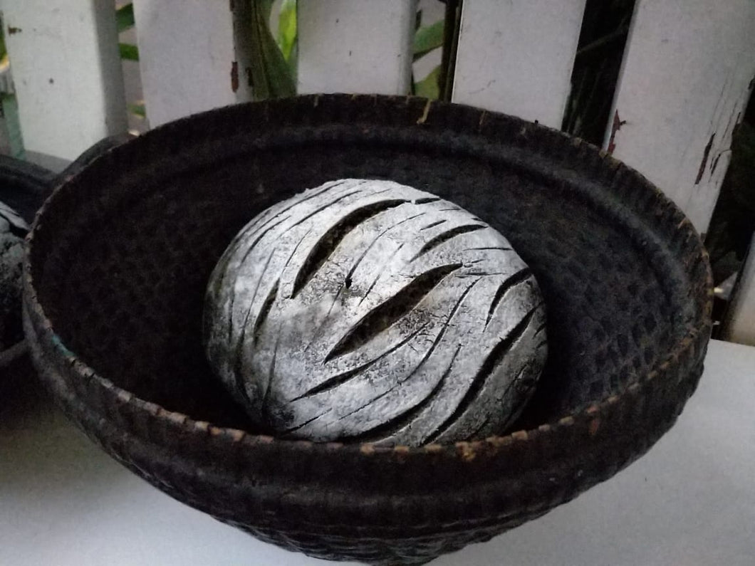 Sourdough Bread - Activated Charcoal, Sesame and Sunflower Seeds & Garlic (Pre-order)