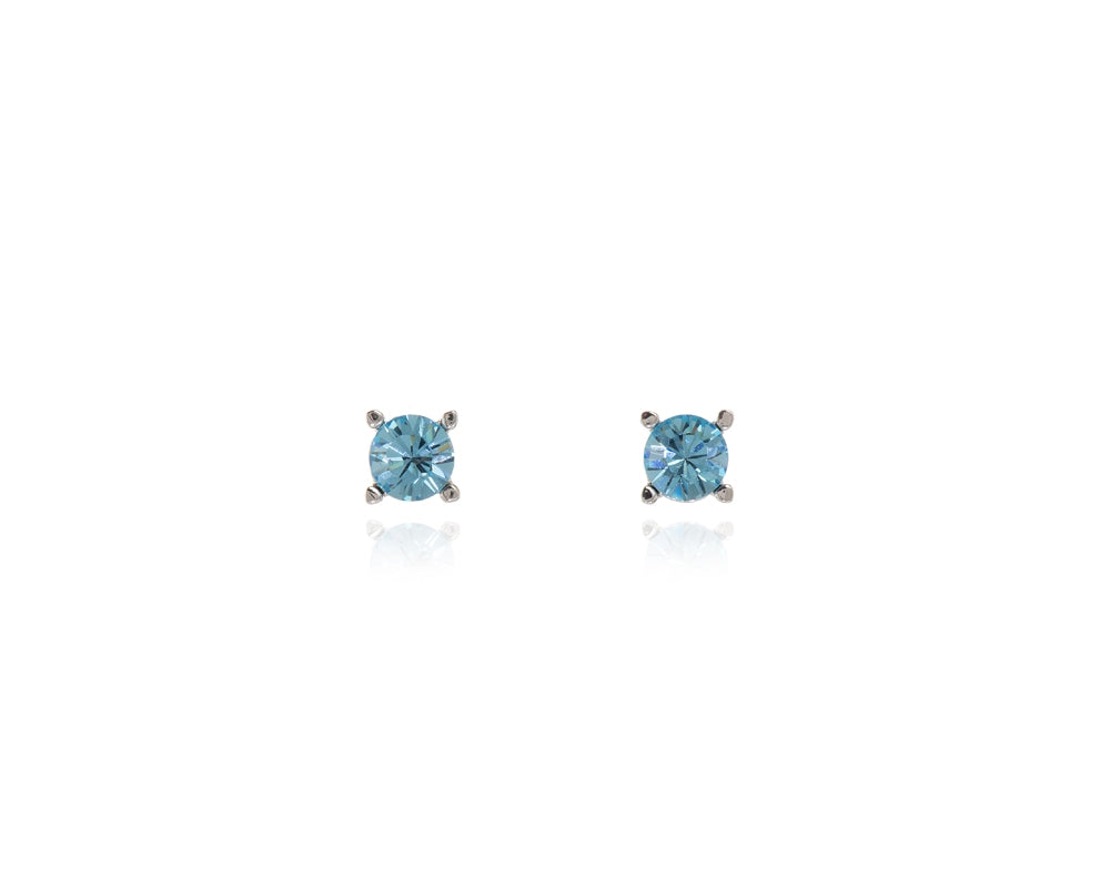 Laine with Blue Swarovski Crystal Earrings