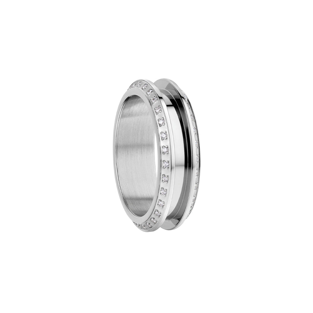 Bering Ring | Polished Silver & Swarovski | 526-17-X3 | Outer Ring