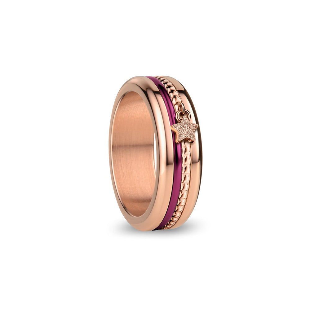 Bering Ring | Polished rose gold | 526-ANNIV20RP-X3 | Purple Anniversary Ring