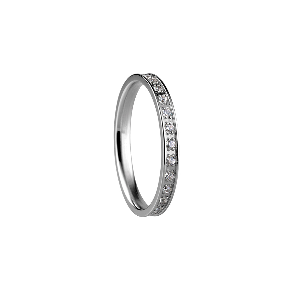 Bering Ring | Polished Silver and Swarovski | 556-17-X1 | Inner Ring