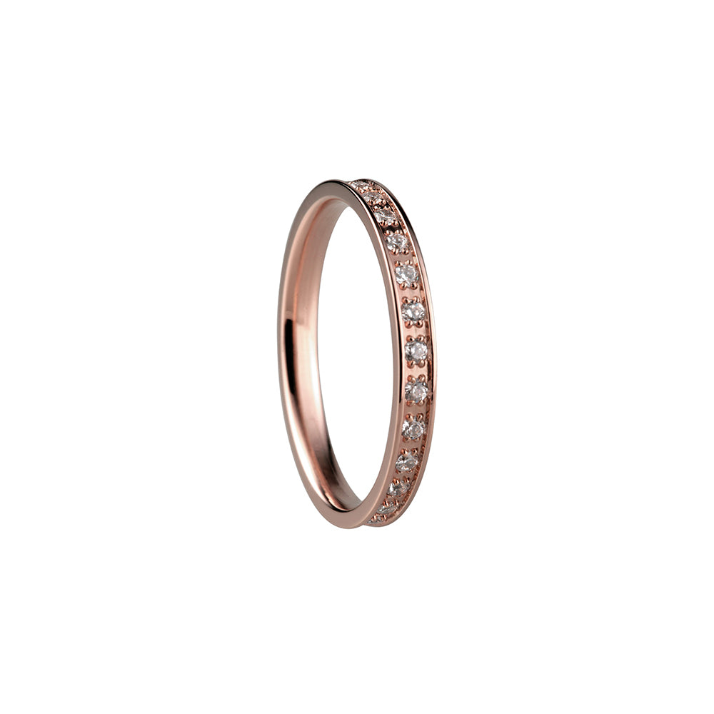 Bering Ring | Polished Rose Gold and Swarovski | 556-37-X1 | Inner Ring