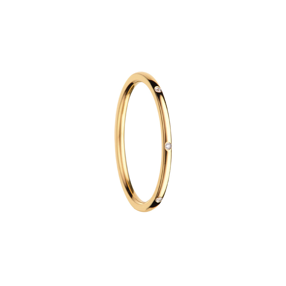 Bering Ring | Polished Gold with Zirconia | 560-27-X0 | Inner Ring