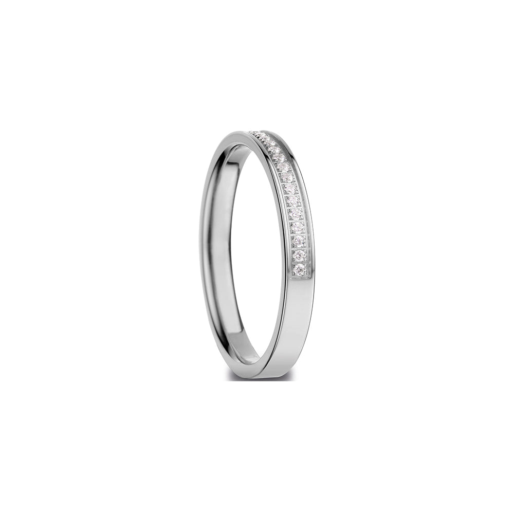 Bering Ring | Polished Silver and Swarovski | 576-17-X1  |Inner Ring