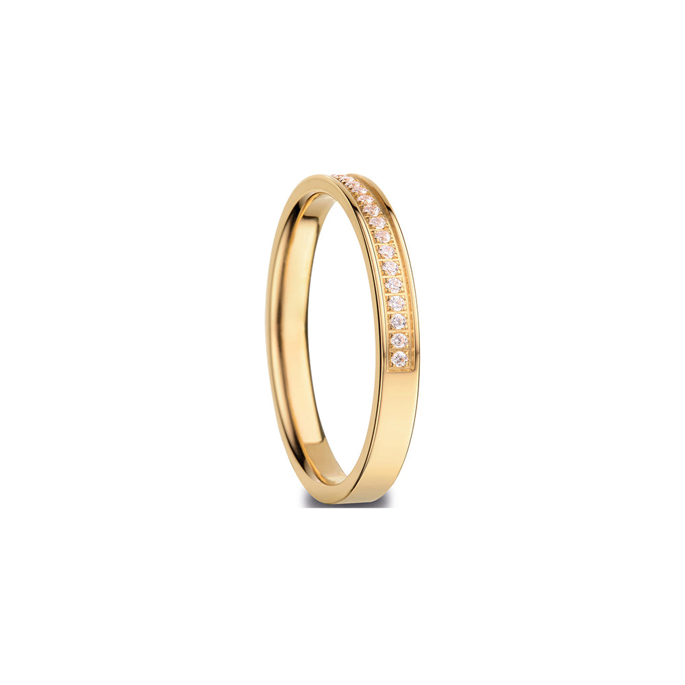 Bering Ring | Polished Gold and Swarovski | 576-27-X1 |Inner Ring
