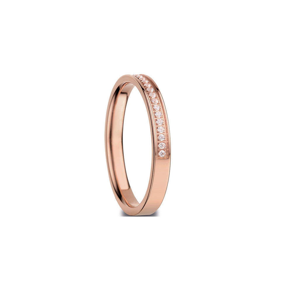 Bering Ring | Polished Rose Gold and Swarovski | 576-37-X1 |Inner Ring