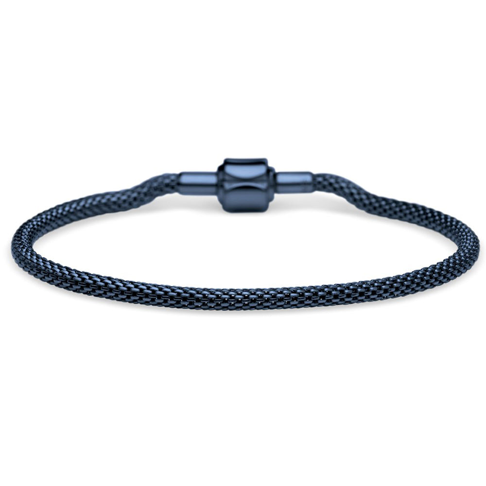 Bering Bracelet Navy Blue Stainless Steel