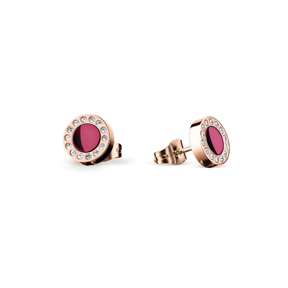 Bering Earrings | Polished rose gold | 707-390-05 | Purple Anniversary