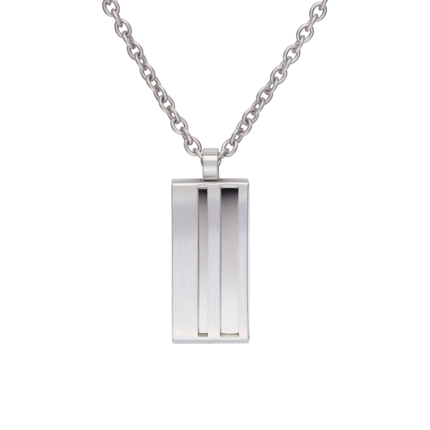 Steel Brushed & Polished Pendant AN103