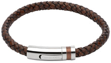 Load image into Gallery viewer, Antique Dark Brown Leather Bracelet B345ADB