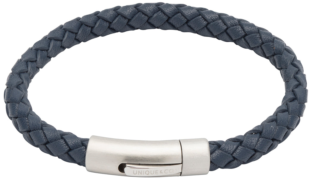 Blue Leather Bracelet B399BLUE