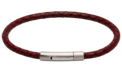 Antique Red Leather Bracelet B444ARE