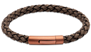 Antique Brown Leather Bracelet B452ABL