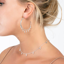 Load image into Gallery viewer, Solid Silver Multi Drop Hoops DER27