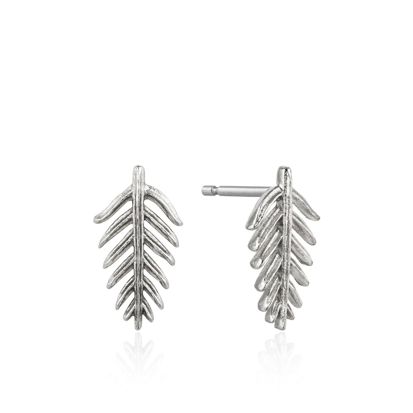 Silver Palm Stud Earrings E011-03H