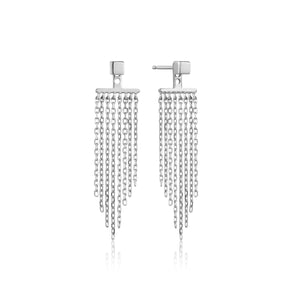 Silver Fringe Fall Ear Jackets E013-05H