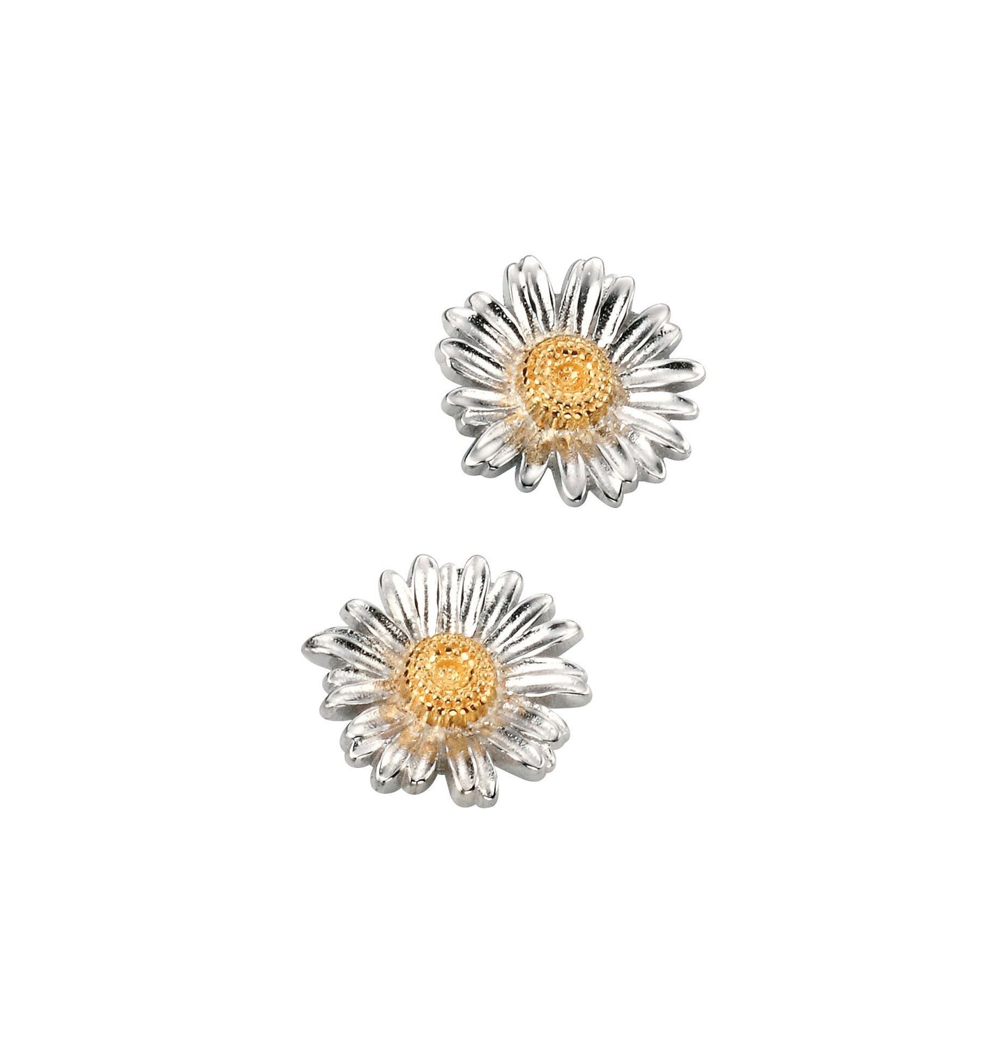 Silver and Gold Daisy Earrings