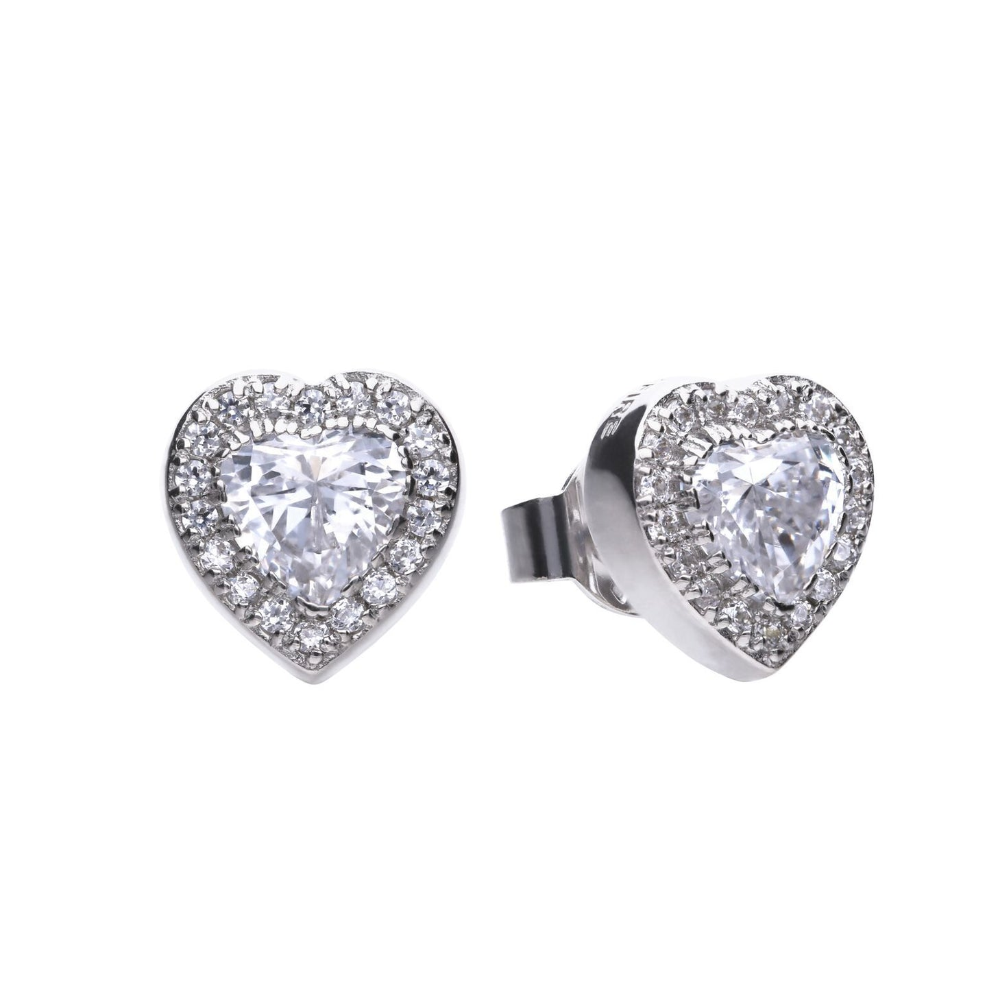 Heart Pave Stud Earrings E5589
