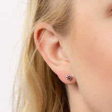 Load image into Gallery viewer, Pink Zirconia Stud Earrings E5975
