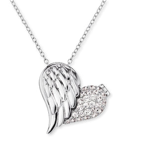 Heart Wing with Love Necklace