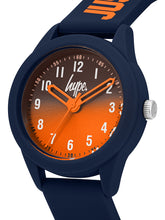 Load image into Gallery viewer, Just Hype Kids Watch | Navy and Orange | HYK003U