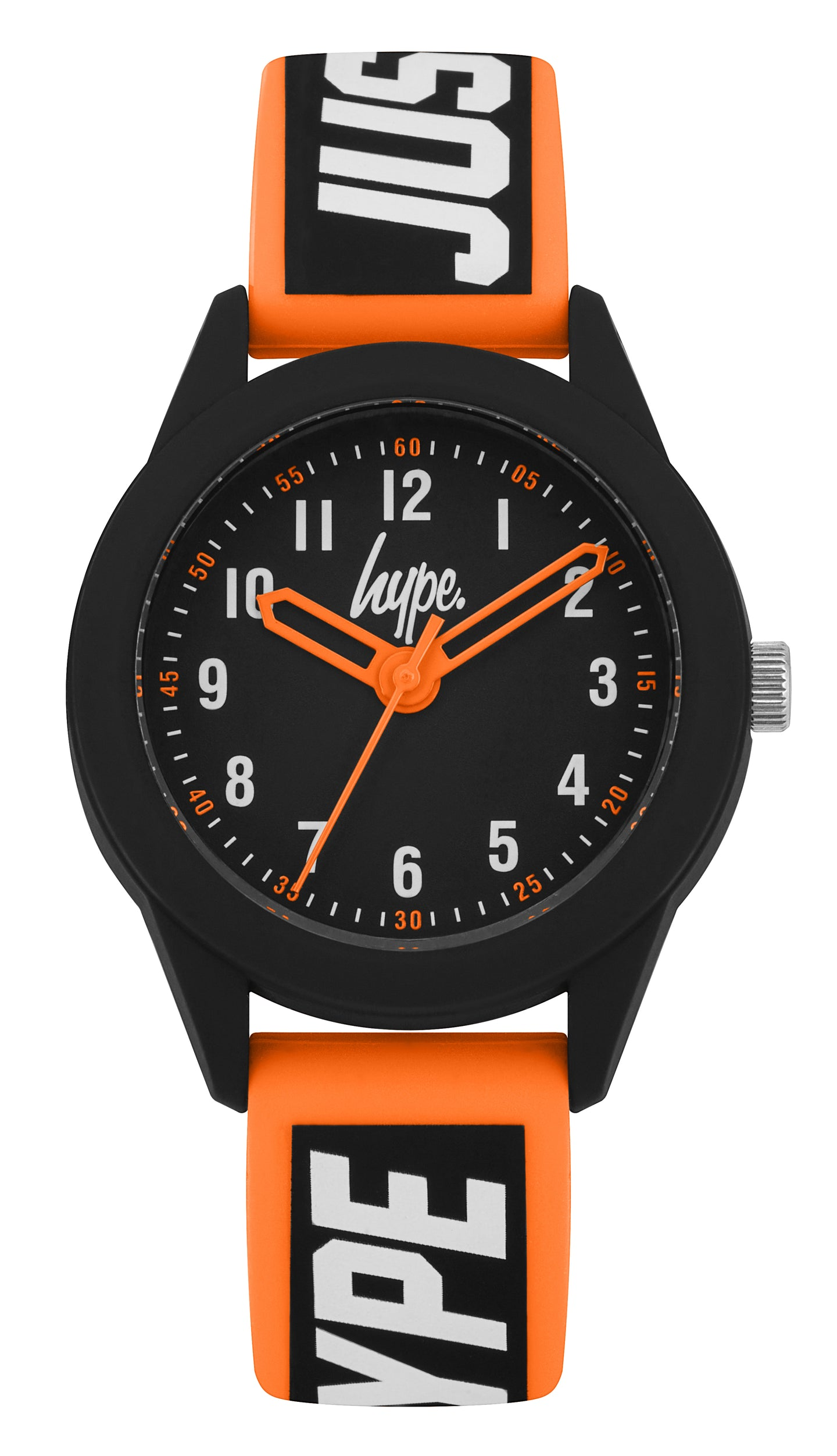 Just Hype Kids Watch | Black with Orange and White | HYK004OB