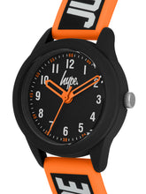 Load image into Gallery viewer, Just Hype Kids Watch | Black with Orange and White | HYK004OB