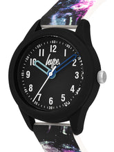 Load image into Gallery viewer, Just Hype Kids Watch | Black with Cosmo Print | HYK007BV