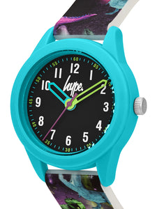 Just Hype Kids Watch | Black with Dinosaur Print | HYK008BU