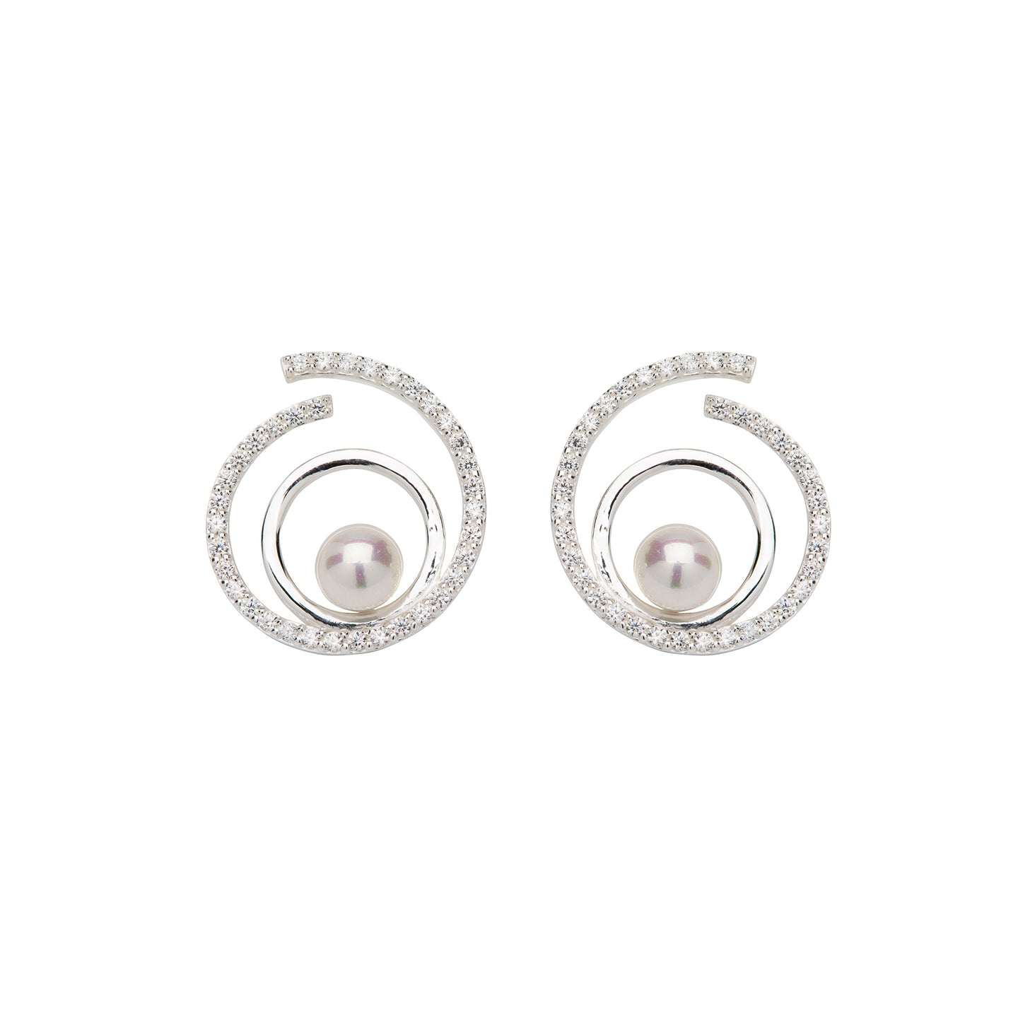 Silver and Pearl Shell Earrings ME-656