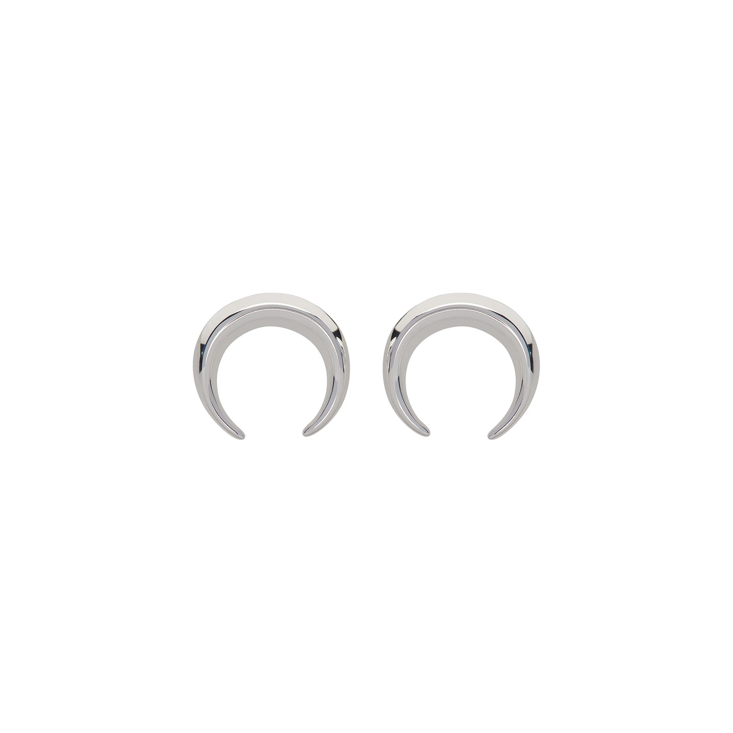 Silver Moon Crescent Earrings ME-738