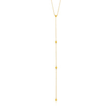 Load image into Gallery viewer, Gold Modern Beaded Y Necklace N002-02G