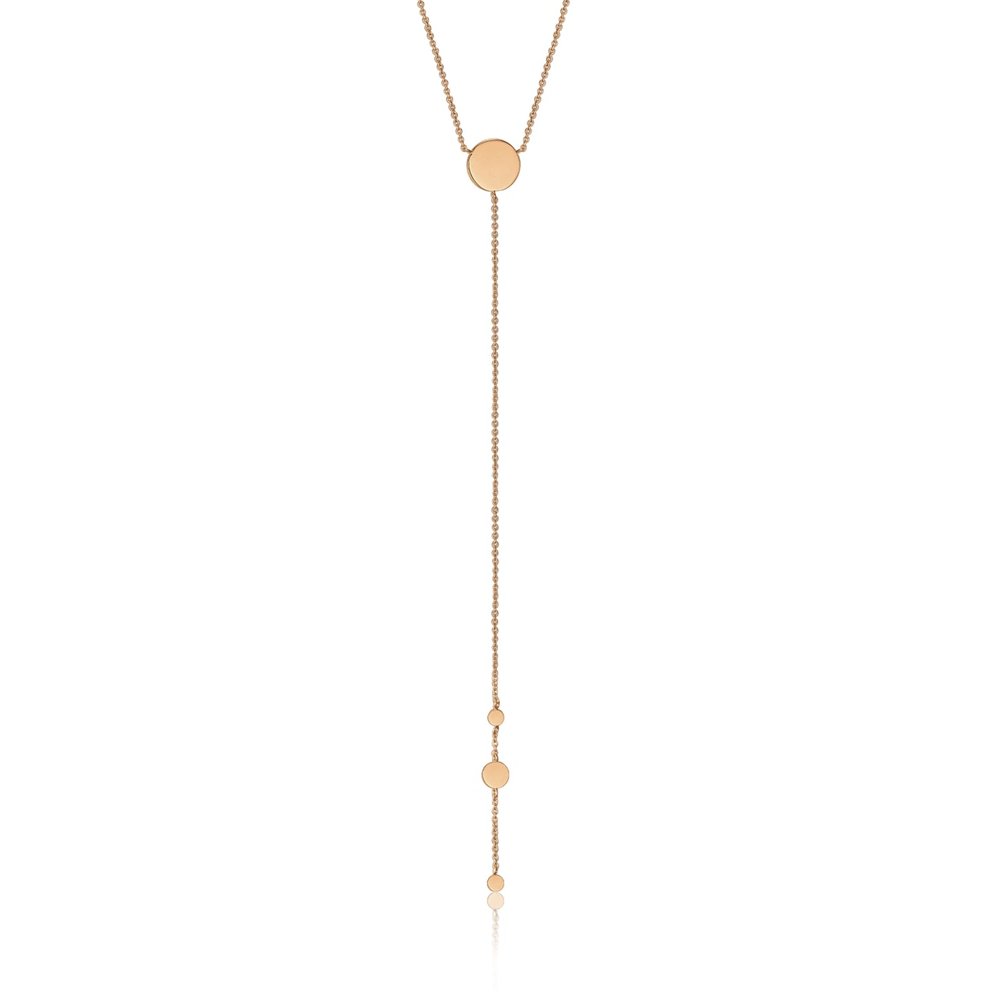 Rose Gold Geometry Y Necklace N005-02R