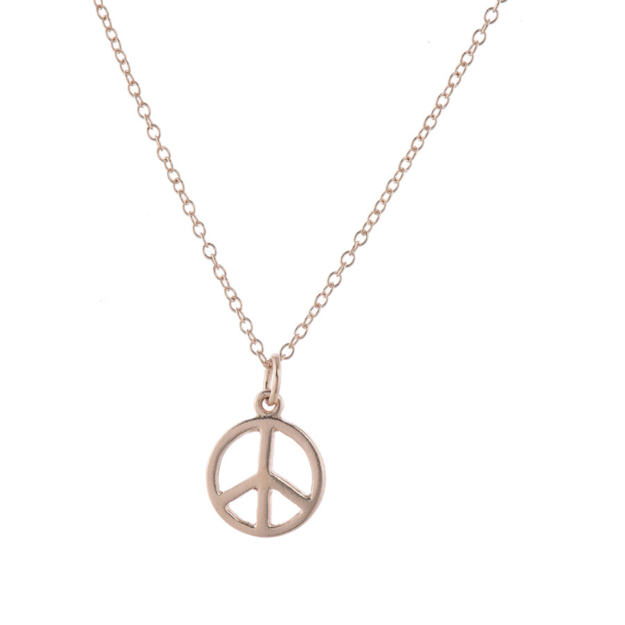 Rose Gold Love & Peace Pendant