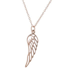Rose Gold Angel By My Side Pendant