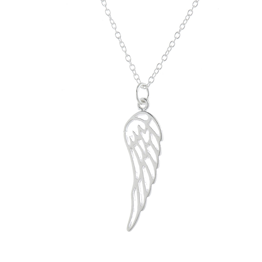 Silver Angel By My Side Pendant