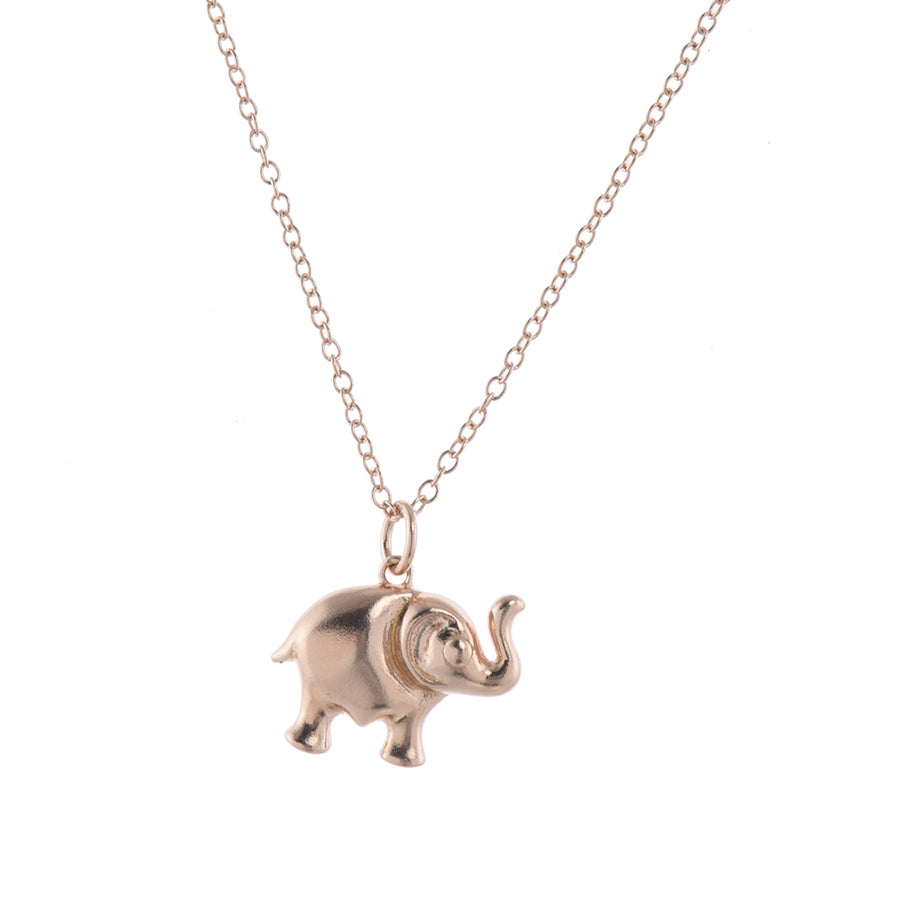 Rose Gold Lucky Elephant Pendant