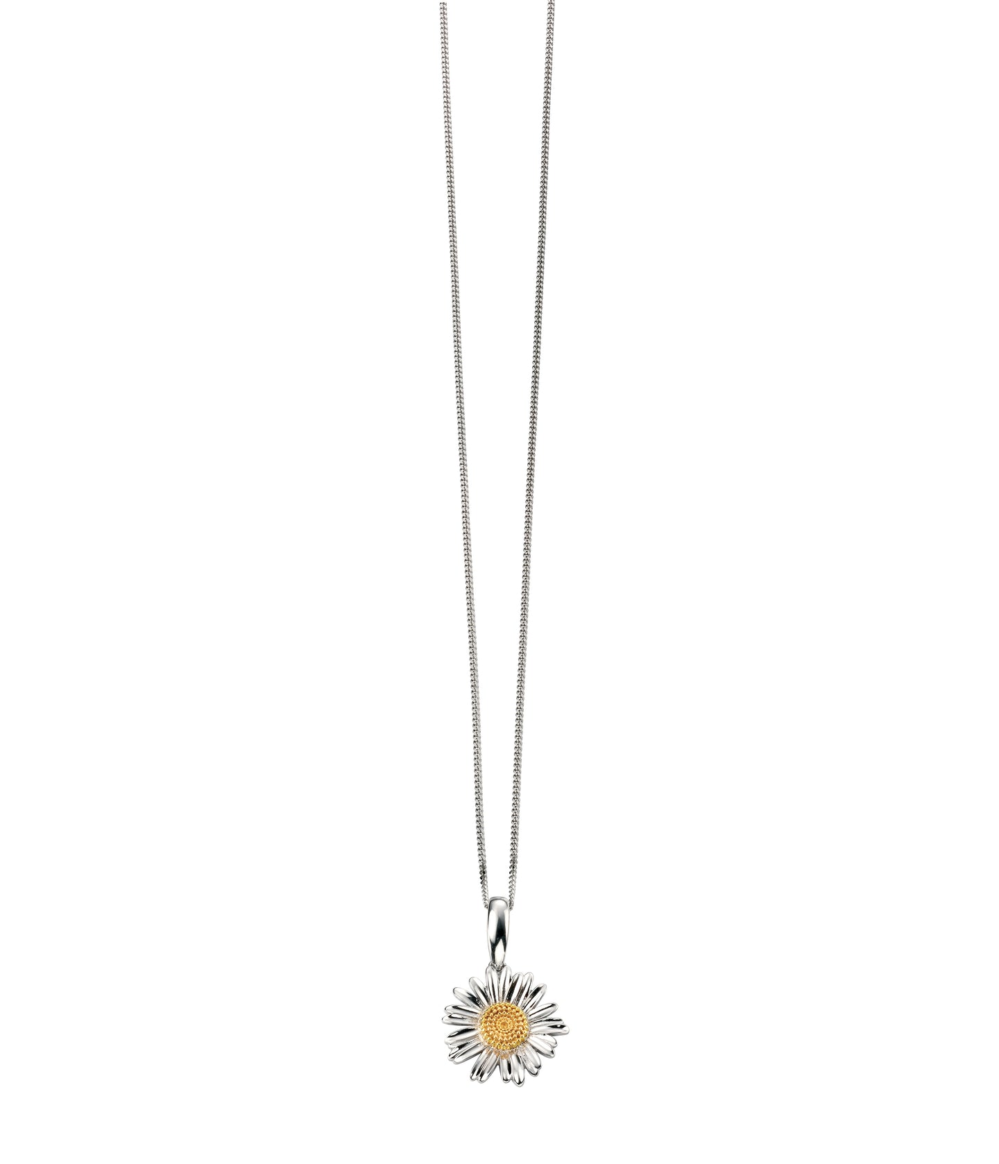 Silver and Gold Daisy Pendant