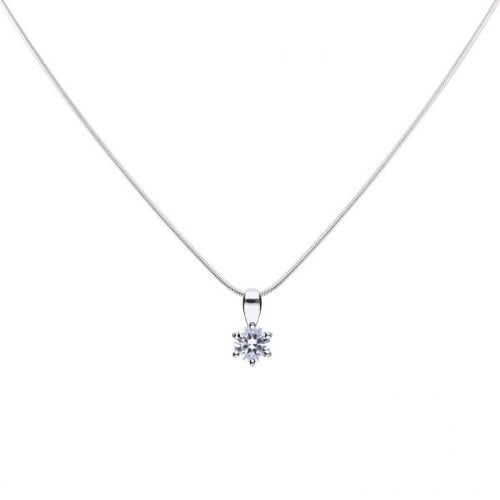 Solitaire 0.5ct Claw Necklace P4610