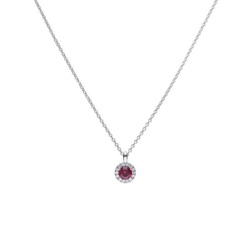 Red Round Pave Pendant P4625