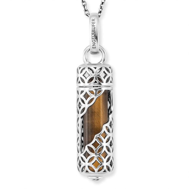 Powerful Stone Tiger's Eye Pendant & Chain