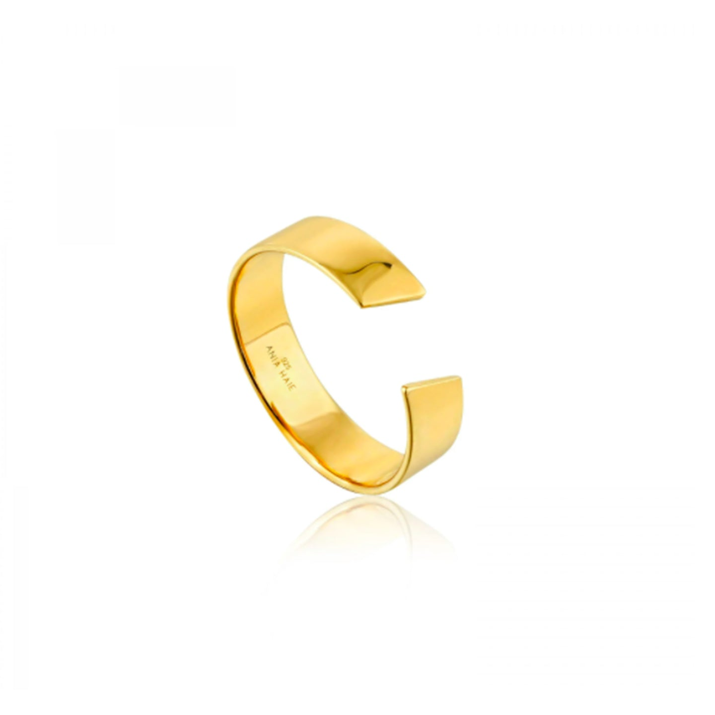 Gold Geometry Wide Adjustable Ring R005-03G