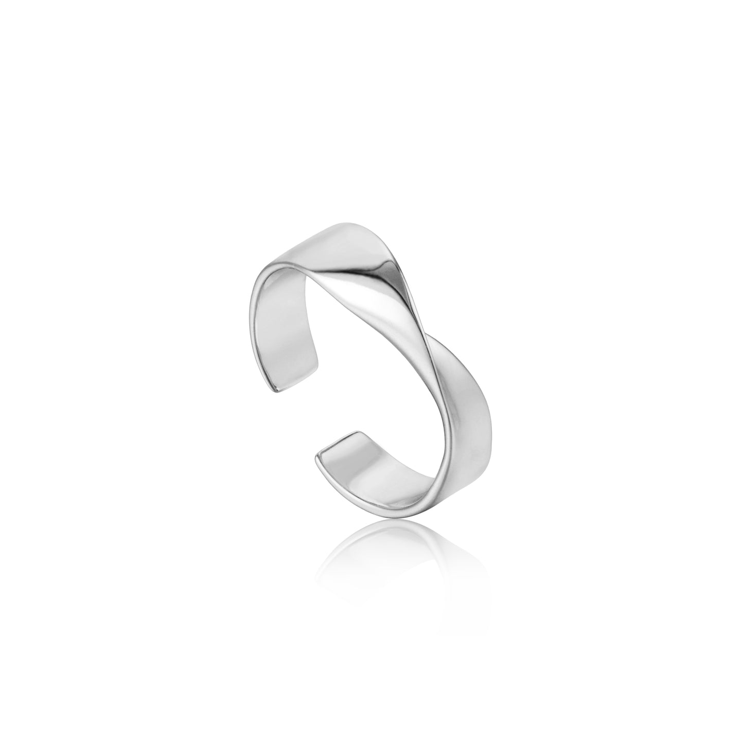 Silver Helix Adjustable Ring R012-01H