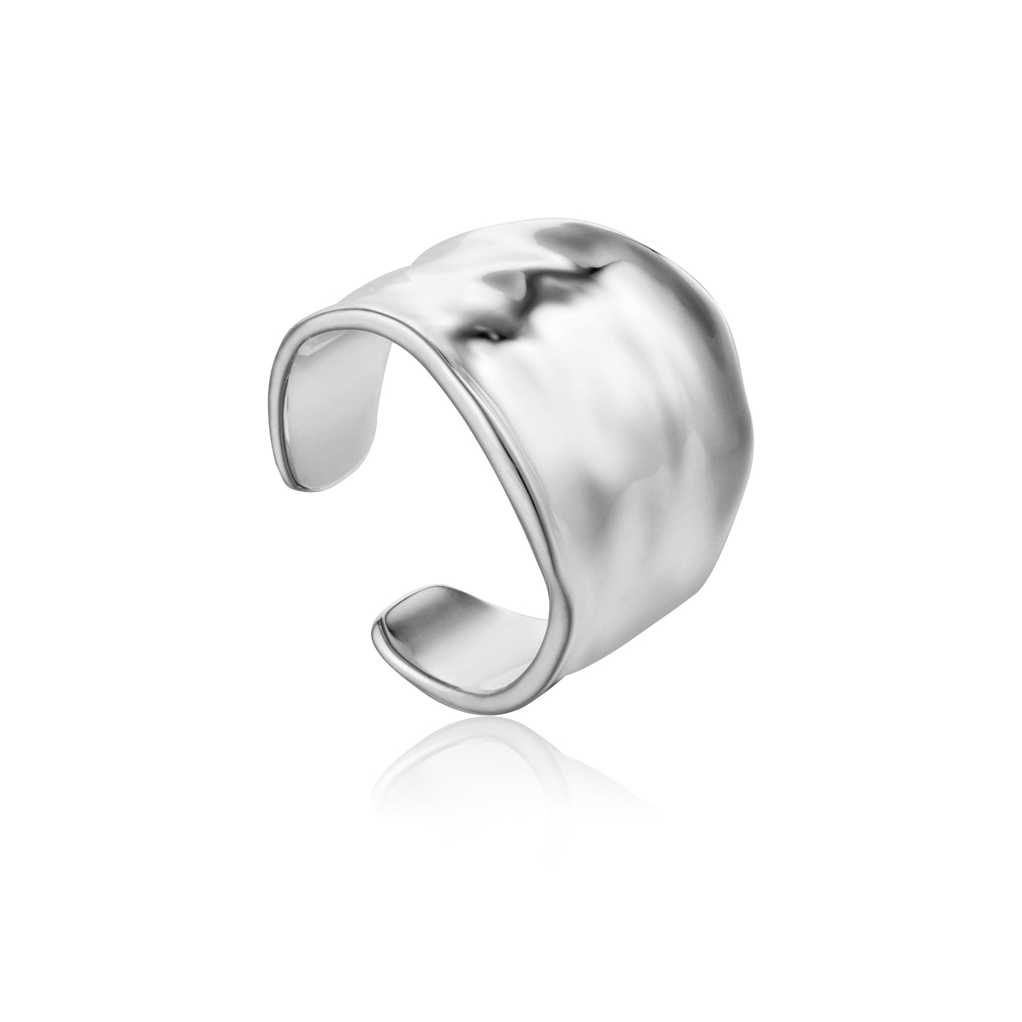 Silver Crush Wide Adjustable Ring R017-03H