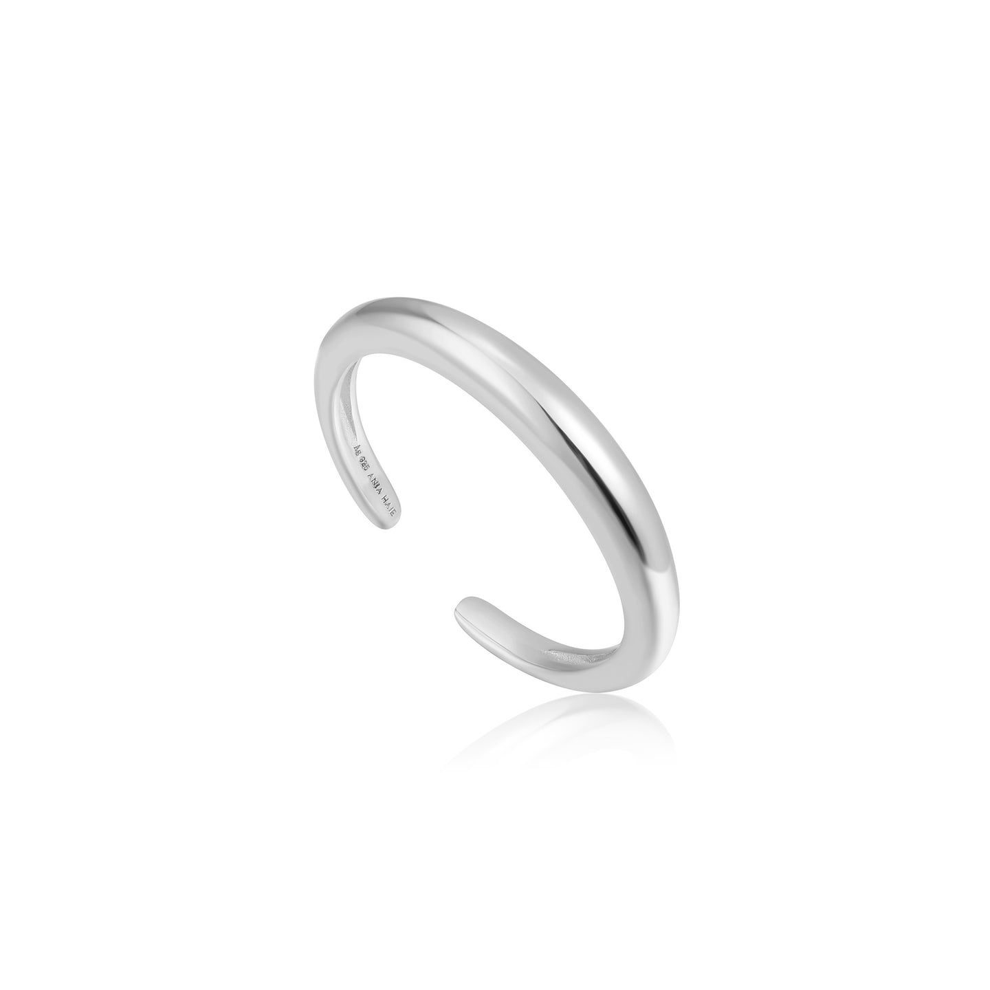 Silver Luxe Band Adjustable Ring R024-01H