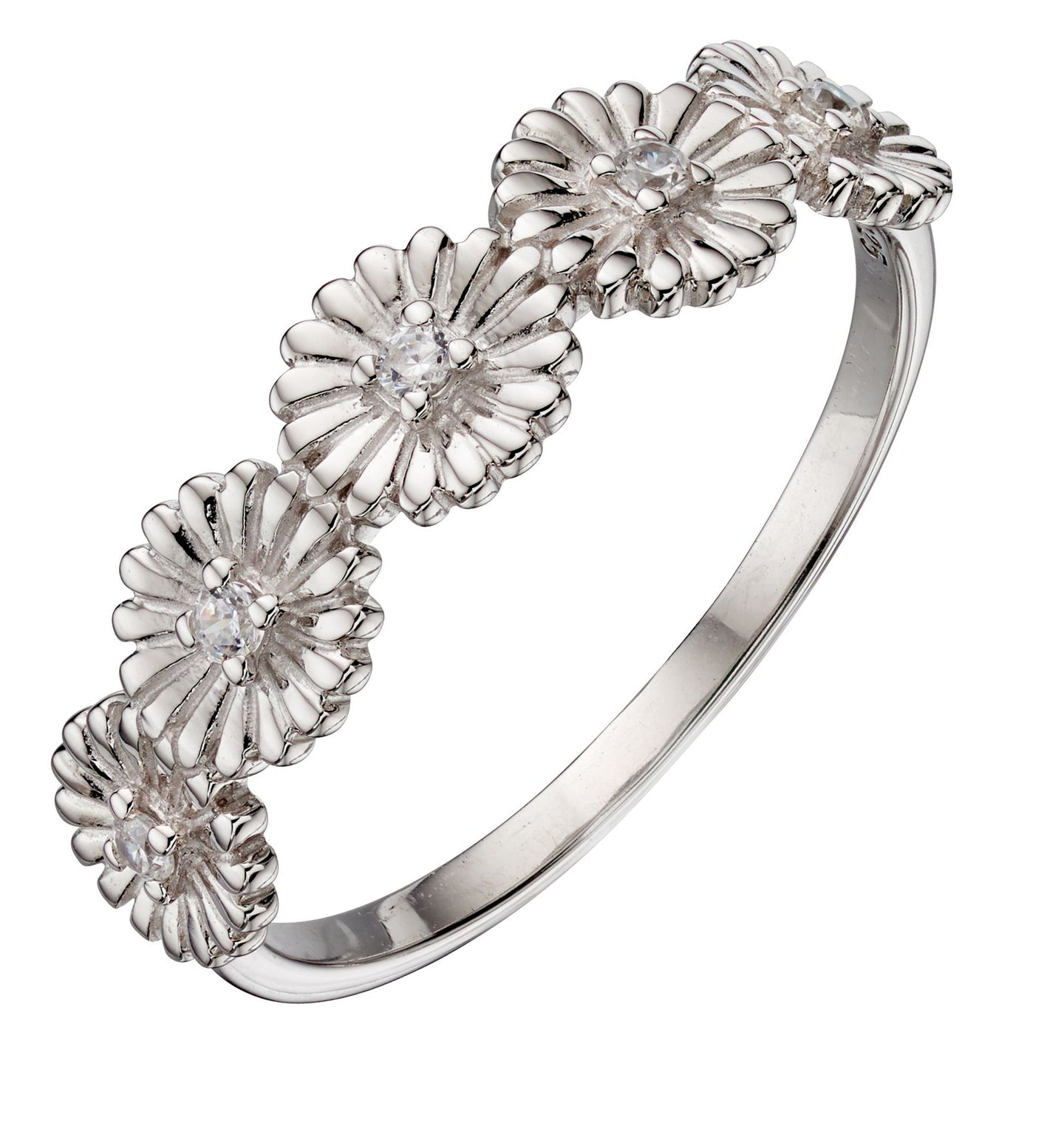 Silver Multi Daisy Ring