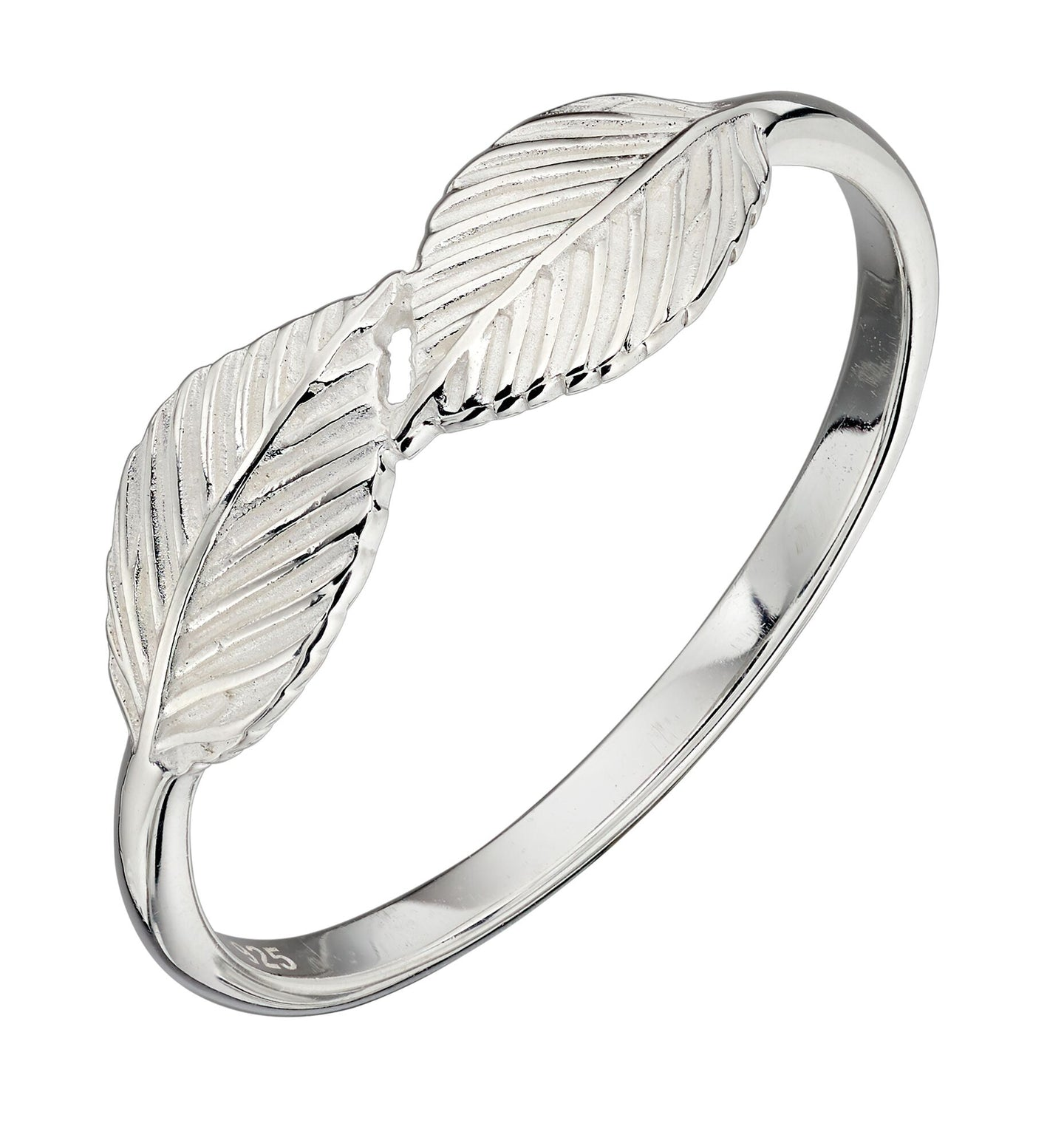 Silver Double Leaf Ring