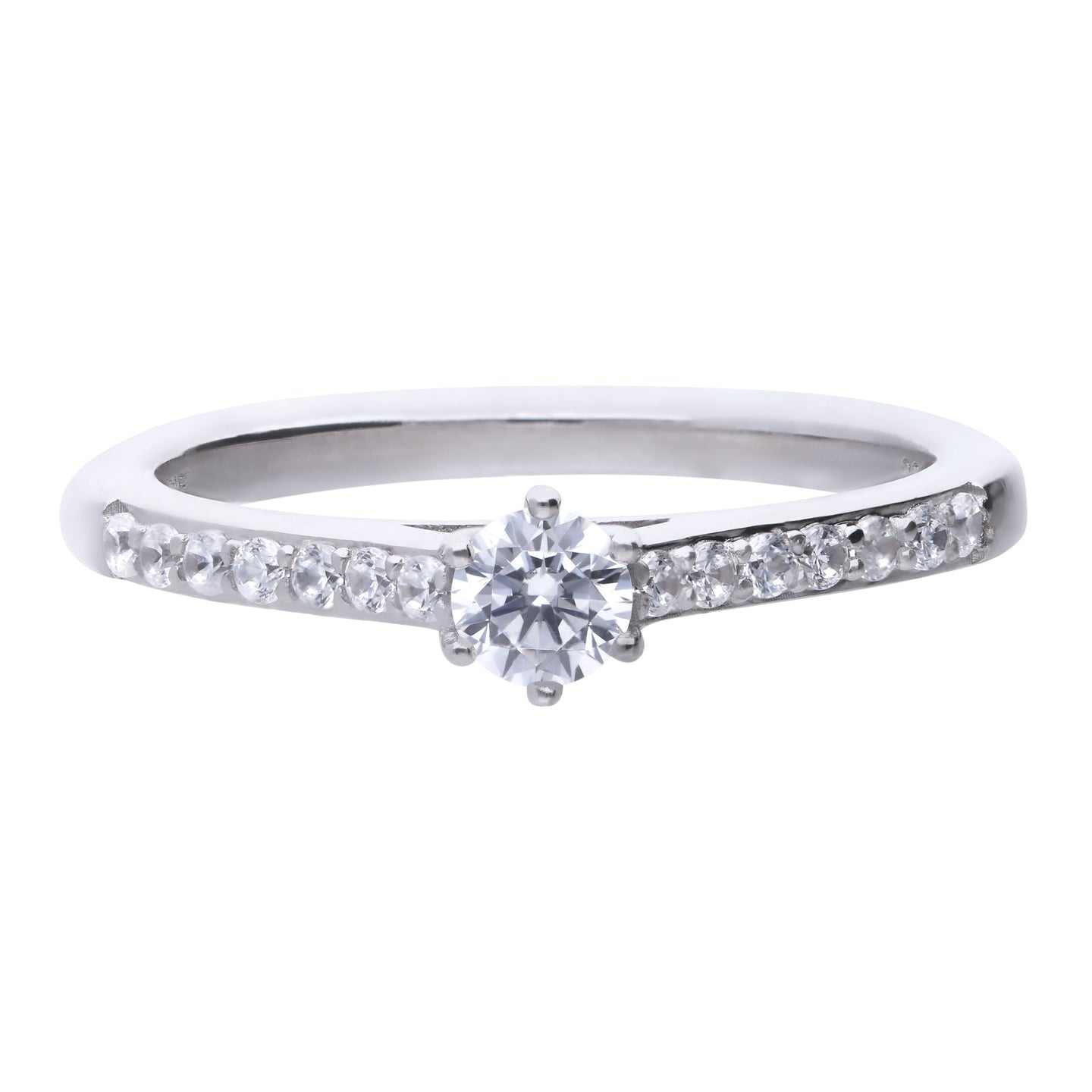Solitaire Pave Ring R3754