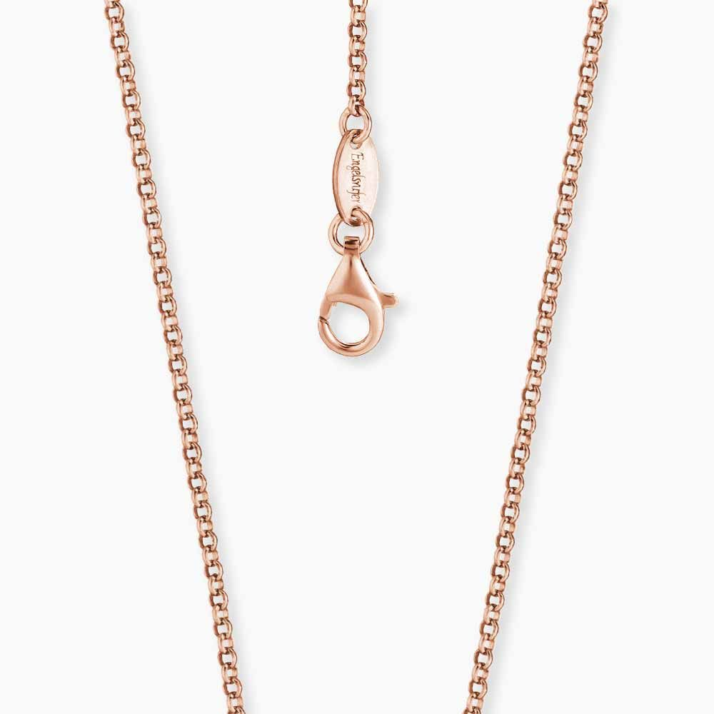 Sterling Silver Rose Gold Plated 70cm Chain